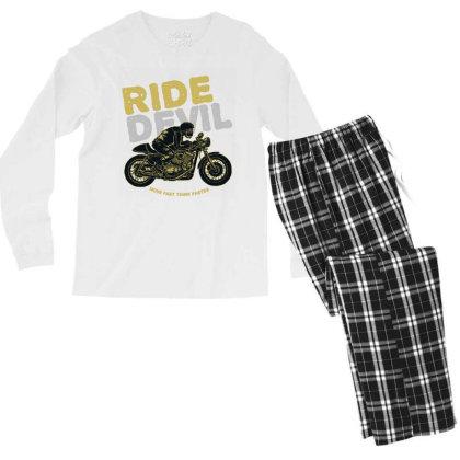 Ride Devil Men's Long Sleeve Pajama Set Designed By Chiks