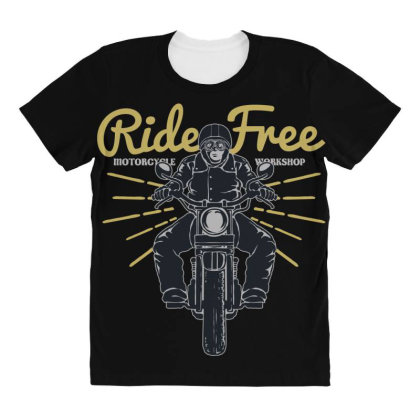Ride Free All Over Women's T-shirt Designed By Chiks