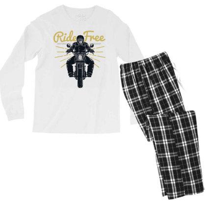 Ride Free Men's Long Sleeve Pajama Set Designed By Chiks