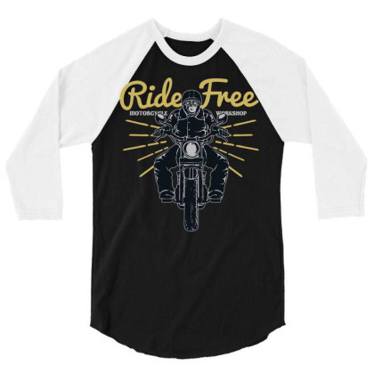 Ride Free 3/4 Sleeve Shirt Designed By Chiks