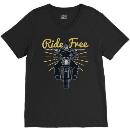 Ride Free V-neck Tee Designed By Chiks