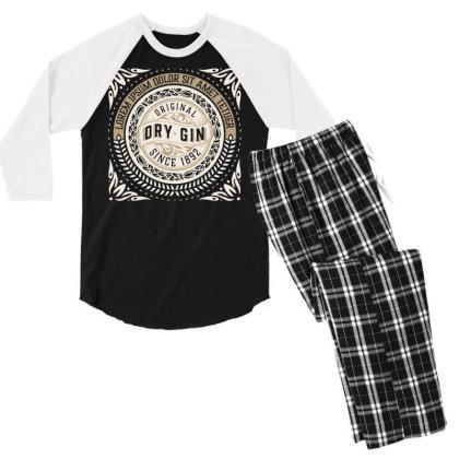 Original Vintage Retro Clasic Men's 3/4 Sleeve Pajama Set Designed By Designisfun