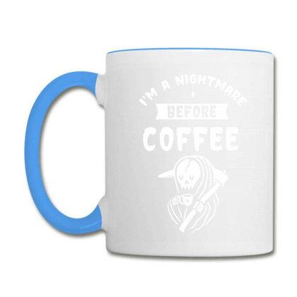 I'm A Nightmare Before Coffee - Halloween Gift Scary Coffee Mug Designed By Diogo Calheiros