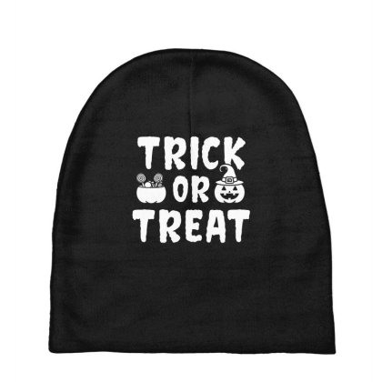 Trick Or Treat - Halloween Gift Scary Baby Beanies Designed By Diogo Calheiros