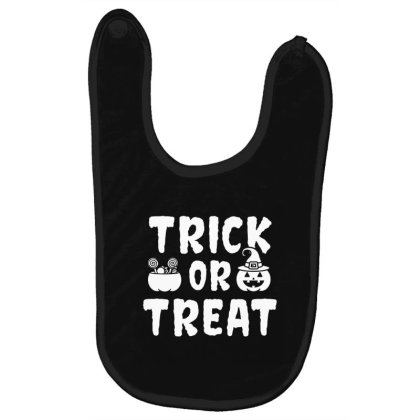 Trick Or Treat - Halloween Gift Scary Baby Bibs Designed By Diogo Calheiros
