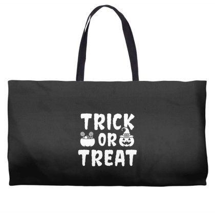 Trick Or Treat - Halloween Gift Scary Weekender Totes Designed By Diogo Calheiros