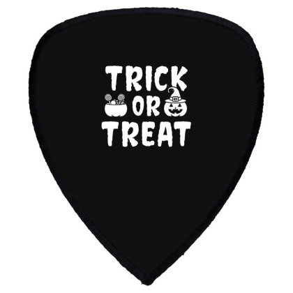 Trick Or Treat - Halloween Gift Scary Shield S Patch Designed By Diogo Calheiros