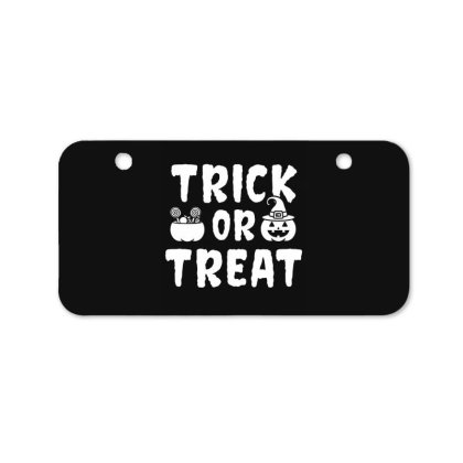 Trick Or Treat - Halloween Gift Scary Bicycle License Plate Designed By Diogo Calheiros