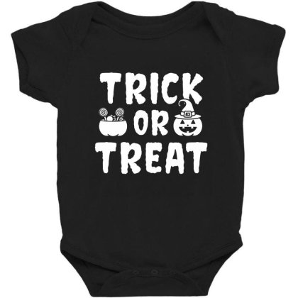 Trick Or Treat - Halloween Gift Scary Baby Bodysuit Designed By Diogo Calheiros
