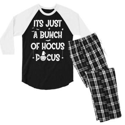 Its Just A Bunch Of Hocus Pocus - Halloween Gift Scary Men's 3/4 Sleeve Pajama Set Designed By Diogo Calheiros