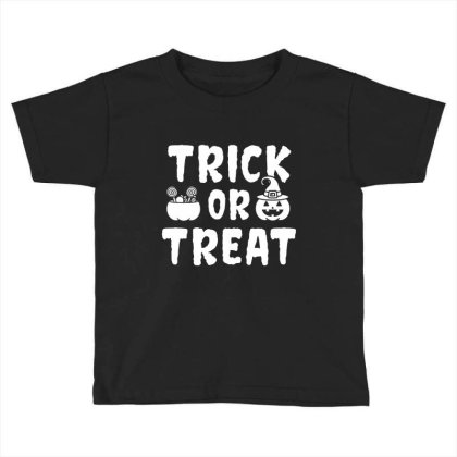 Trick Or Treat - Halloween Gift Scary Toddler T-shirt Designed By Diogo Calheiros