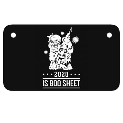 2020 Is Boo Sheet - Halloween Gift Scary Motorcycle License Plate Designed By Diogo Calheiros