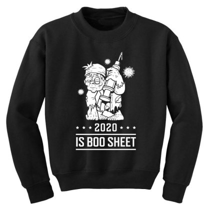 2020 Is Boo Sheet - Halloween Gift Scary Youth Sweatshirt Designed By Diogo Calheiros