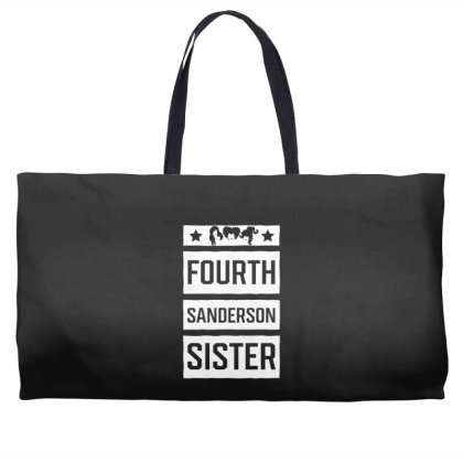 Fourth Sanderson Sister - Halloween Gift Scary Weekender Totes Designed By Diogo Calheiros