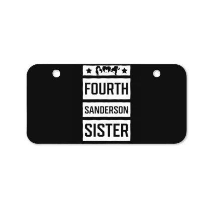 Fourth Sanderson Sister - Halloween Gift Scary Bicycle License Plate Designed By Diogo Calheiros