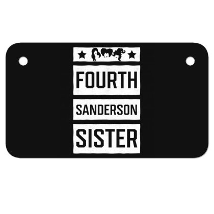 Fourth Sanderson Sister - Halloween Gift Scary Motorcycle License Plate Designed By Diogo Calheiros
