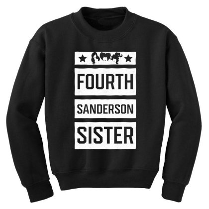 Fourth Sanderson Sister - Halloween Gift Scary Youth Sweatshirt Designed By Diogo Calheiros