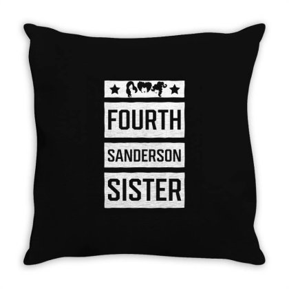 Fourth Sanderson Sister - Halloween Gift Scary Throw Pillow Designed By Diogo Calheiros