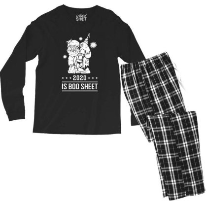 2020 Is Boo Sheet - Halloween Gift Scary Men's Long Sleeve Pajama Set Designed By Diogo Calheiros