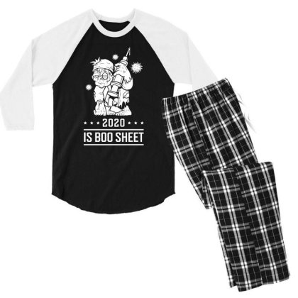 2020 Is Boo Sheet - Halloween Gift Scary Men's 3/4 Sleeve Pajama Set Designed By Diogo Calheiros
