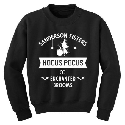 Hocus Pocus Co Sanderson Sister - Halloween Gift Scary Youth Sweatshirt Designed By Diogo Calheiros