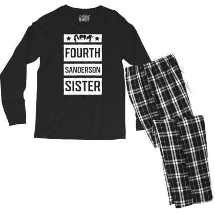 Fourth Sanderson Sister - Halloween Gift Scary Men's Long Sleeve Pajama Set Designed By Diogo Calheiros