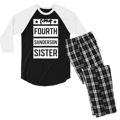 Fourth Sanderson Sister - Halloween Gift Scary Men's 3/4 Sleeve Pajama Set Designed By Diogo Calheiros