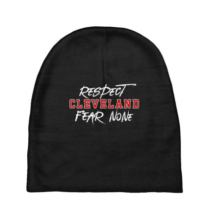 Respect Cleveland Baby Beanies Designed By Shirt1na