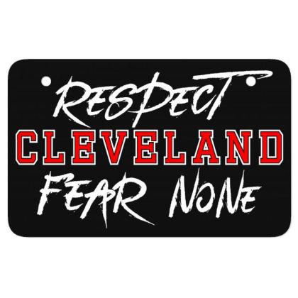 Respect Cleveland Atv License Plate Designed By Shirt1na