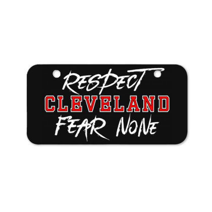 Respect Cleveland Bicycle License Plate Designed By Shirt1na