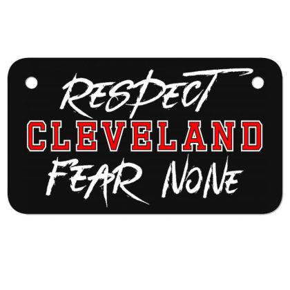 Respect Cleveland Motorcycle License Plate Designed By Shirt1na