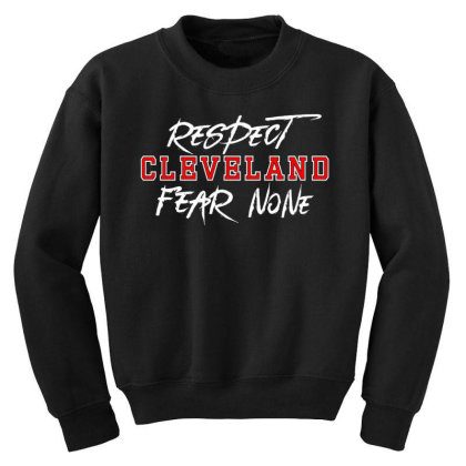 Respect Cleveland Youth Sweatshirt Designed By Shirt1na