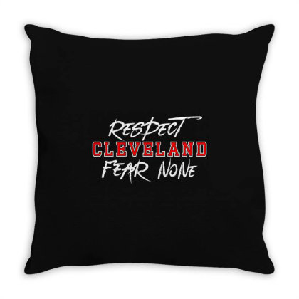Respect Cleveland Throw Pillow Designed By Shirt1na