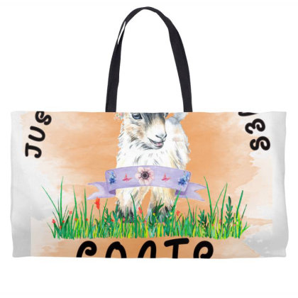 Just A Girl Who Loves Goat Weekender Totes Designed By Alparslan Acar