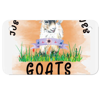 Just A Girl Who Loves Goat Motorcycle License Plate Designed By Alparslan Acar