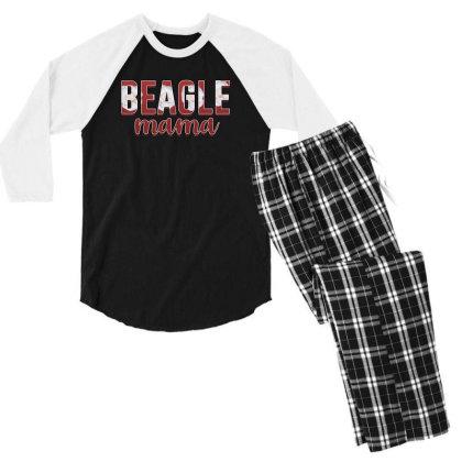 Beagle Mama Men's 3/4 Sleeve Pajama Set Designed By Sengul