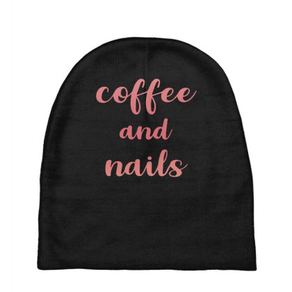 Coffee And Nails Baby Beanies Designed By Sengul