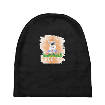 Just A Girl Who Loves Goat Baby Beanies Designed By Alparslan Acar
