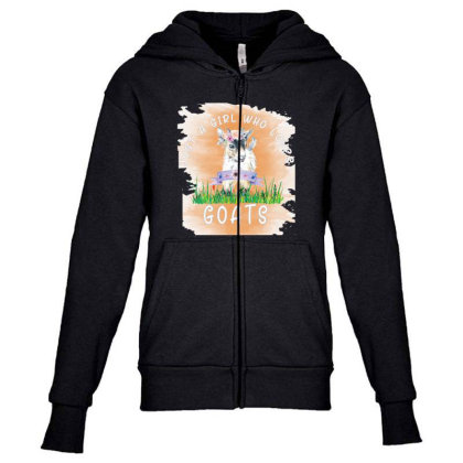 Just A Girl Who Loves Goat Youth Zipper Hoodie Designed By Alparslan Acar