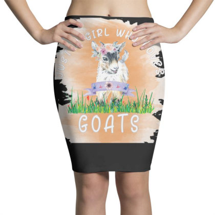 Just A Girl Who Loves Goat Pencil Skirts Designed By Alparslan Acar