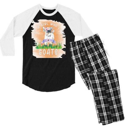 Just A Girl Who Loves Goat Men's 3/4 Sleeve Pajama Set Designed By Alparslan Acar