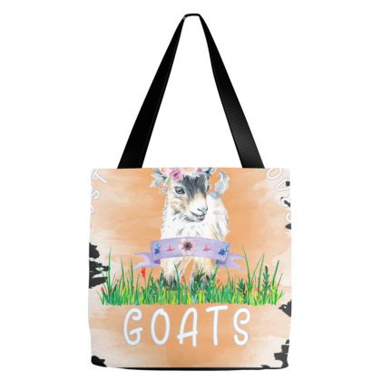 Just A Girl Who Loves Goat Tote Bags Designed By Alparslan Acar