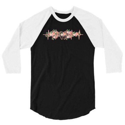 Dent Heartbeat 3/4 Sleeve Shirt Designed By Sengul