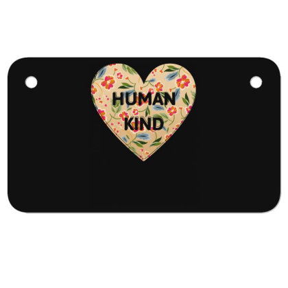 Human Kind Motorcycle License Plate Designed By Sengul