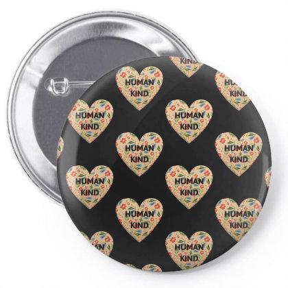 Human Kind Pin-back Button Designed By Sengul