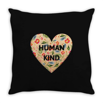 Human Kind Throw Pillow Designed By Sengul