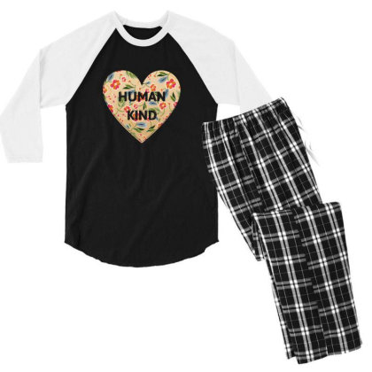 Human Kind Men's 3/4 Sleeve Pajama Set Designed By Sengul