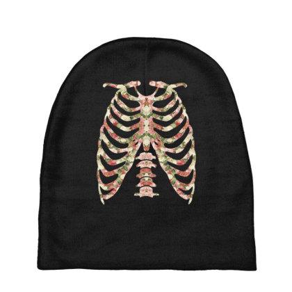 Halloween Skeleton Floral Baby Beanies Designed By Sengul