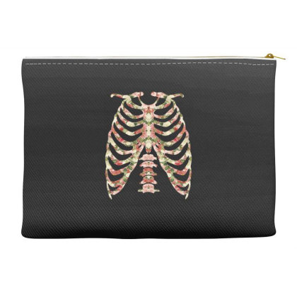 Halloween Skeleton Floral Accessory Pouches Designed By Sengul