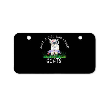 Just A Girl Who Loves Goat Bicycle License Plate Designed By Alparslan Acar